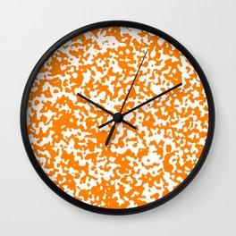 Small Spots - White and Orange Wall Clock