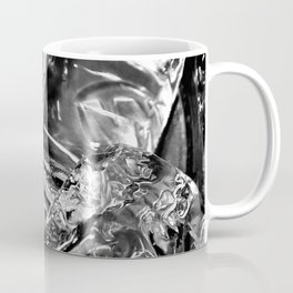 Black White Ice Abstract Coffee Mug