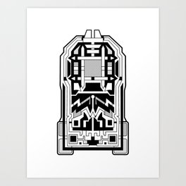Monolith - Art Deco Design Art Print
