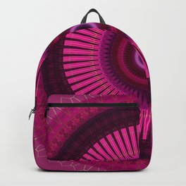 Bright Pink Mandala with Gold Brushed Stitching Backpack