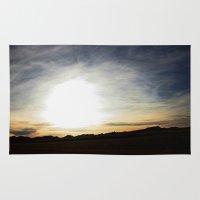 montana Area & Throw Rugs featuring montana skies by sara montour