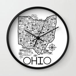 Ohio Map Wall Clock
