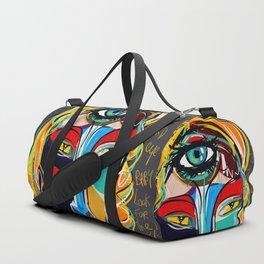 Looking for the third eye street art graffiti Duffle Bag