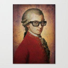 Hipster Mozart Canvas Print