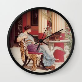 The Jewel Box by John William Godward Wall Clock