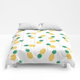 PINEAPPLE ANANAS FRUIT FOOD PATTERN Comforters