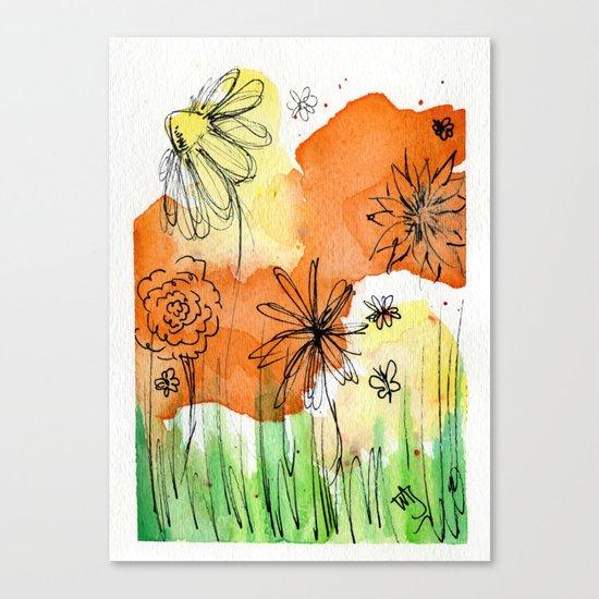 Flower Doodle 2 Canvas Print