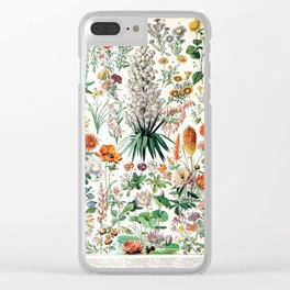Adolphe Millot - Fleurs B - French vintage poster Clear iPhone Case