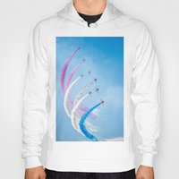 aviation Hoodies featuring The Red Arrows by Adrian Evans