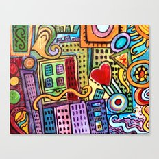 Pretty City Canvas Print