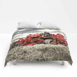 The Red Combine Comforters