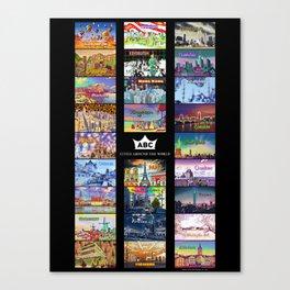 ABC Cities Around the World Canvas Print