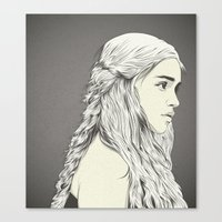 daenerys Canvas Prints featuring D T by CranioDsgn
