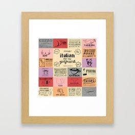 Italian For My Girlfriend - rrrrrude! edition Framed Art Print