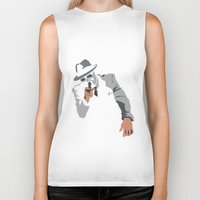 gangster Biker Tanks featuring The Gangster by Dulevartiano