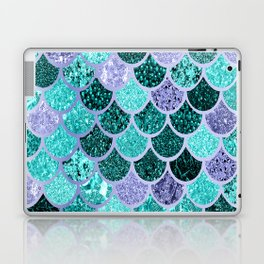 Mermaid, Under the Sea, Mermaid Scales, Teal Purple Laptop & iPad Skin