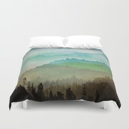 Watercolor Hills Duvet Cover