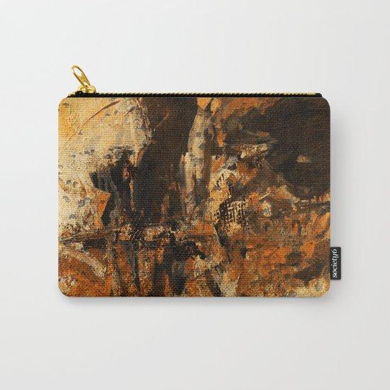 Ocher Wall Carry-All Pouch