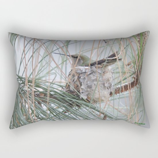 Pine Veil Nesting Rectangular Pillow