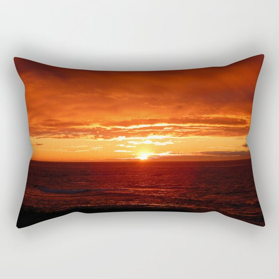 Sun Sets on the Mighty Saint-Lawrence Rectangular Pillow