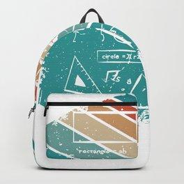 Mathematik Mathelehrer Nerd Professor Backpack
