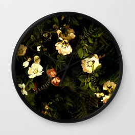 Floral Night III Wall Clock