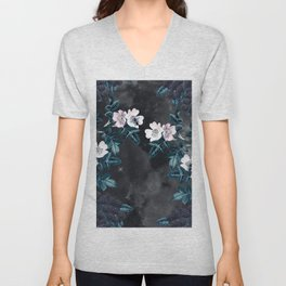 Night Garden Bees Wild Blackberry Unisex V-Neck