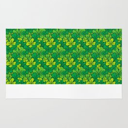 Lucky green pattern with shamrocks Rug