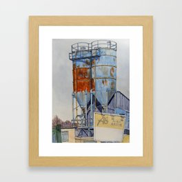 Rusty Silos Framed Art Print