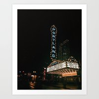 portlandia Art Prints featuring Portland by Max Rivet