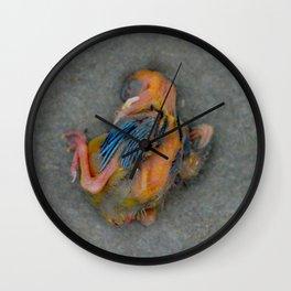 Dead Baby Bird Wall Clock
