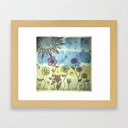 Patchy sky Framed Art Print