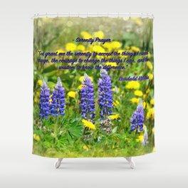 Serenity_Prayer - Spring Flowers Shower Curtain