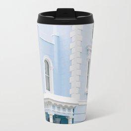 Blue pastel house Travel Mug