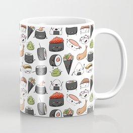 Watercolor Sushi Doodle Coffee Mug