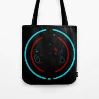 tron Tote Bags featuring Tron Legacy by Florey