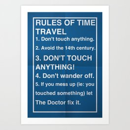 Rules of Time Travel Art Print