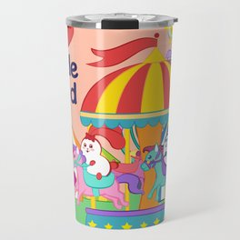 Ernest and Coraline | I love Rhode Island Travel Mug