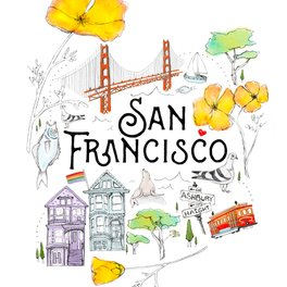 Framed Art Print - San Francisco - Heather Landis