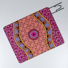 Henna River Picnic Blanket