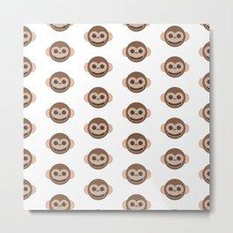 Happy Monkeys Pattern Metal Print