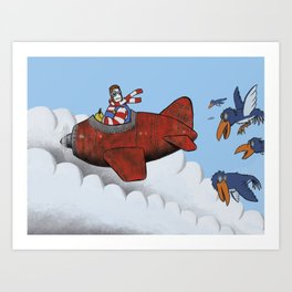 You'll never fly alone Art Print
