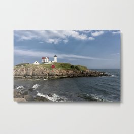 Nubble Lighthouse in Summer Metal Print