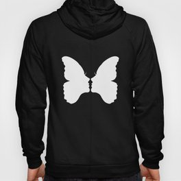 Butterfly Kiss (white) Hoody
