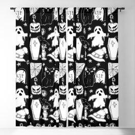 Halloween Doodles 1 Blackout Curtain