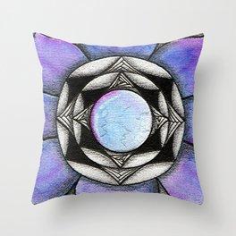Doodled Gem Bloom Throw Pillow