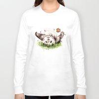 panda Long Sleeve T-shirts featuring Panda by Anna Shell