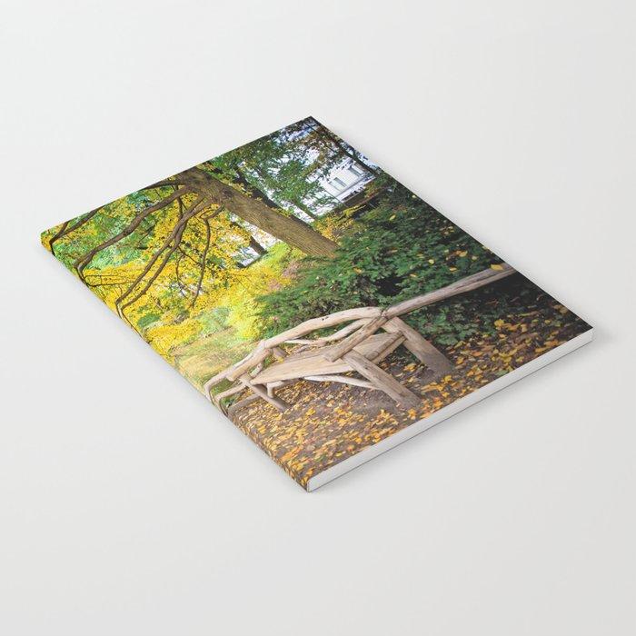 Autumn Bench Meadow Notebook