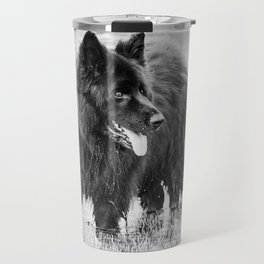 German Shepherd Dog Standing in Water Travel Mug