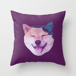 Happy Shiba Throw Pillow
